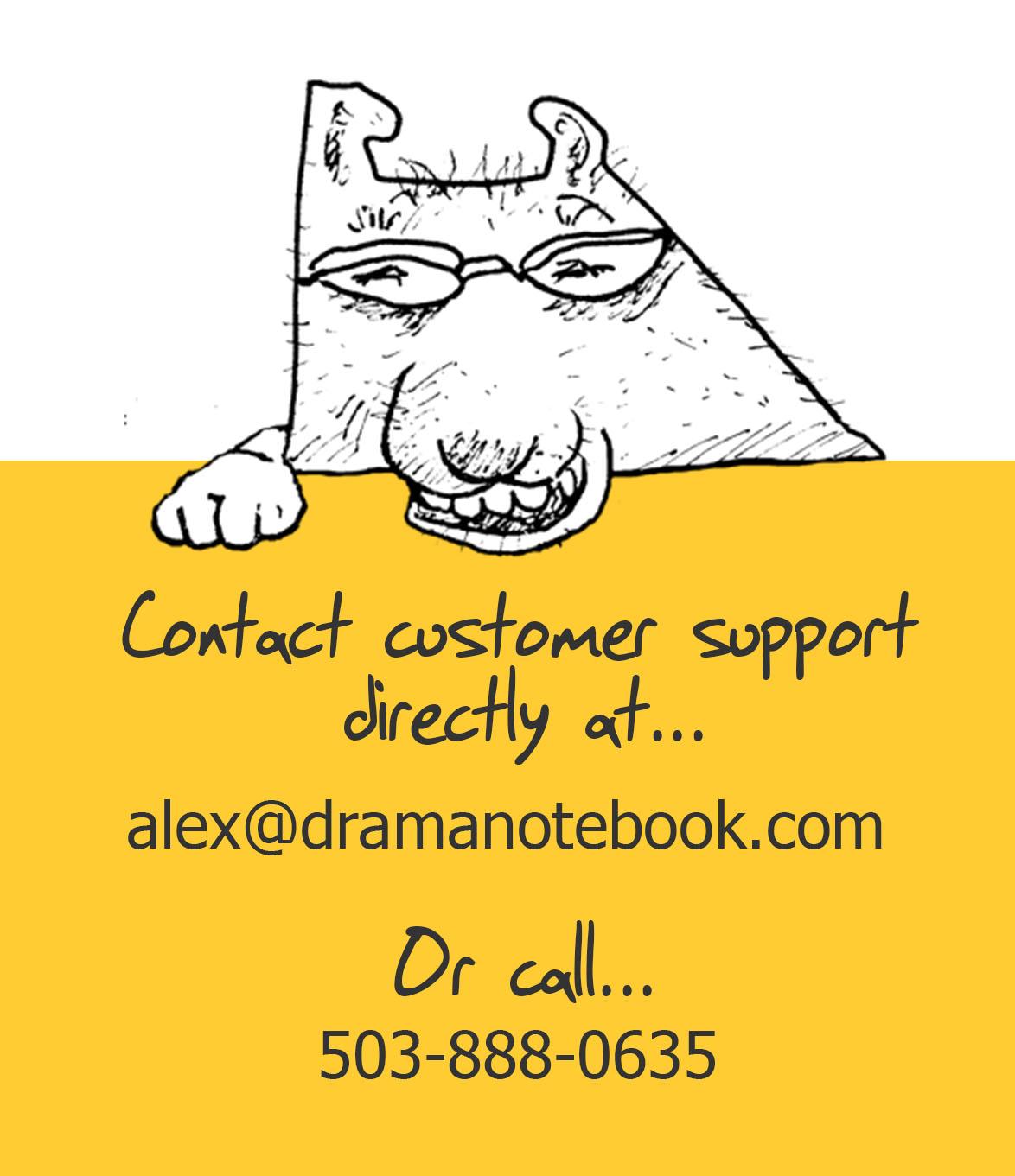 Drama Notebook Contact