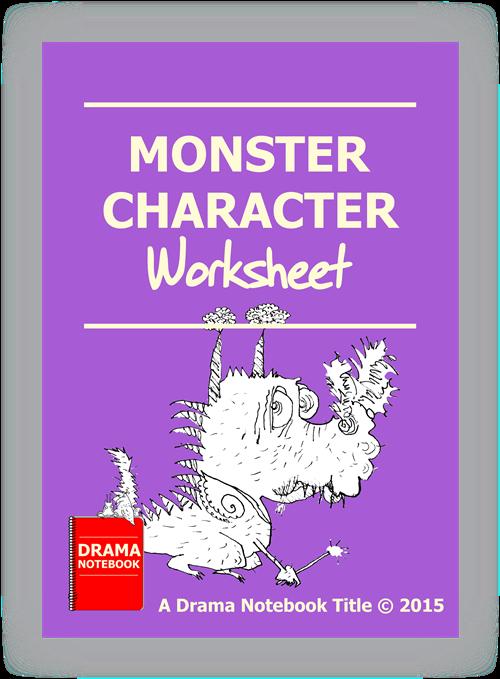 Drama Lesson Plan for Schools-Monster Character Worksheet