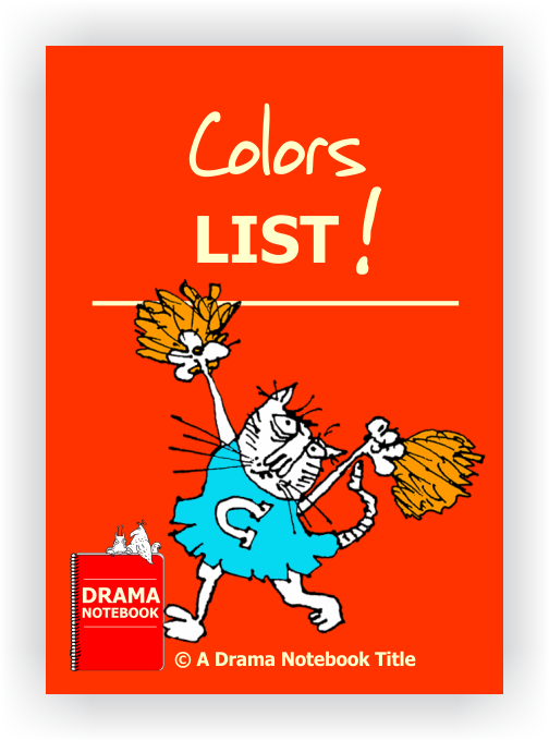 Colors List for Drama Class