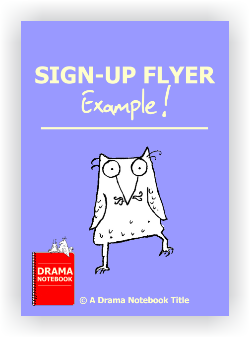 Drama Club Sign up Flyer