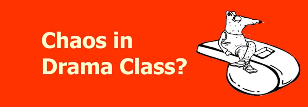 Classsroom Management for Drama Class Button