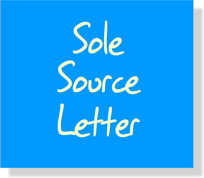 Drama Notebook Sole Source Letter
