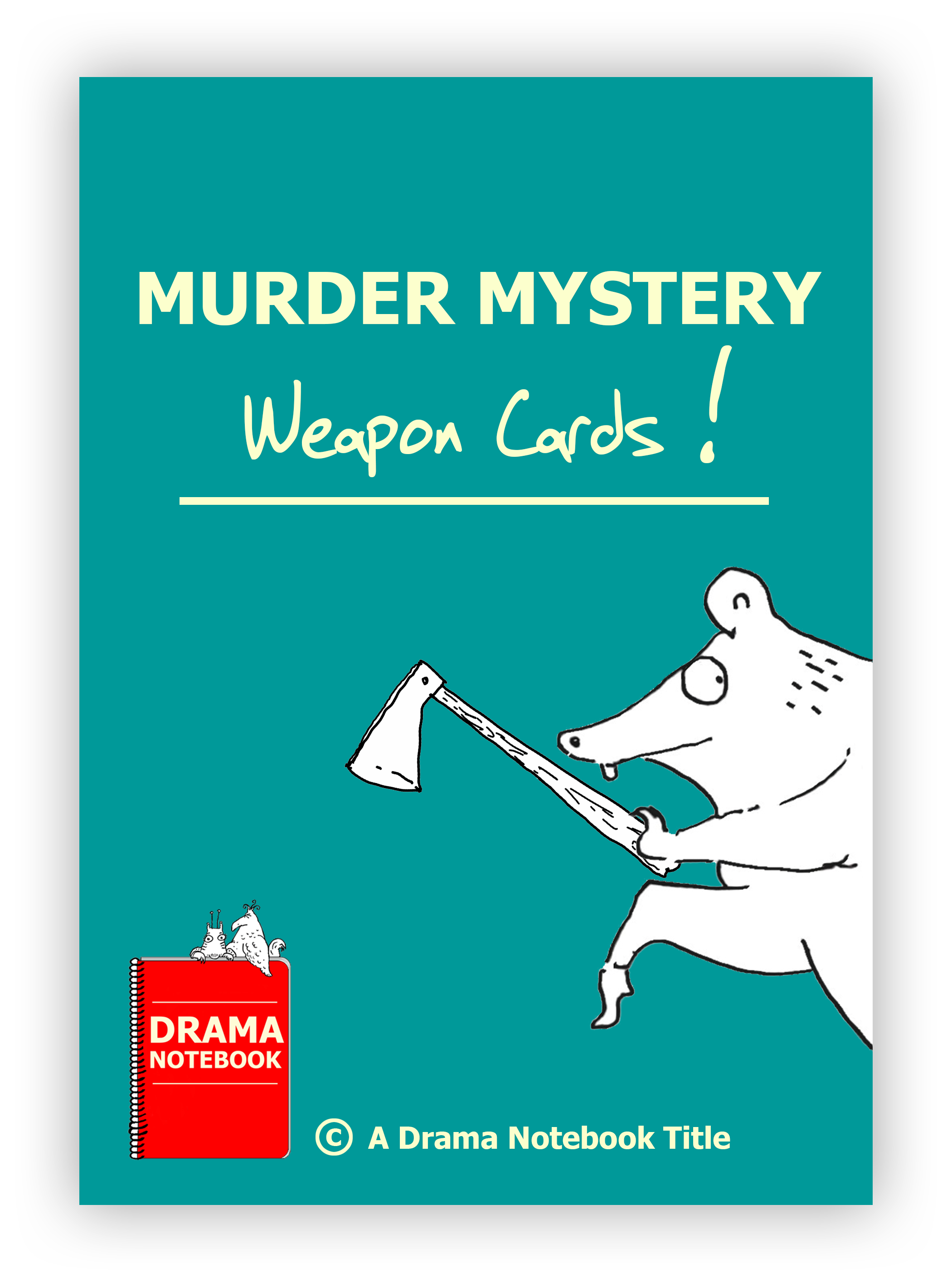Murder Mystery Weapon Cards