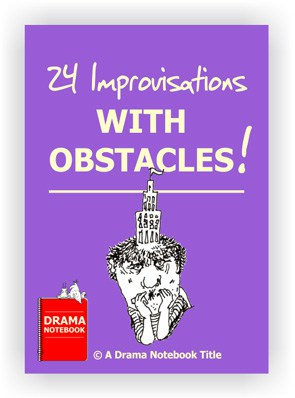 PDF cover for 24 improvisation drama games with obstacles that can be taught online