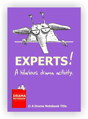 Fun book cover for hilarious online drama activity