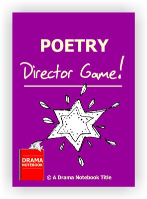 Book cover for Poetry Drama Director practice for teaching drama online