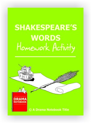 Shakespeare's Words Homework Activity for Drama Class