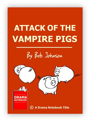 Royalty-free Halloween Play Script for Schools-Attack of the Vampire Pigs