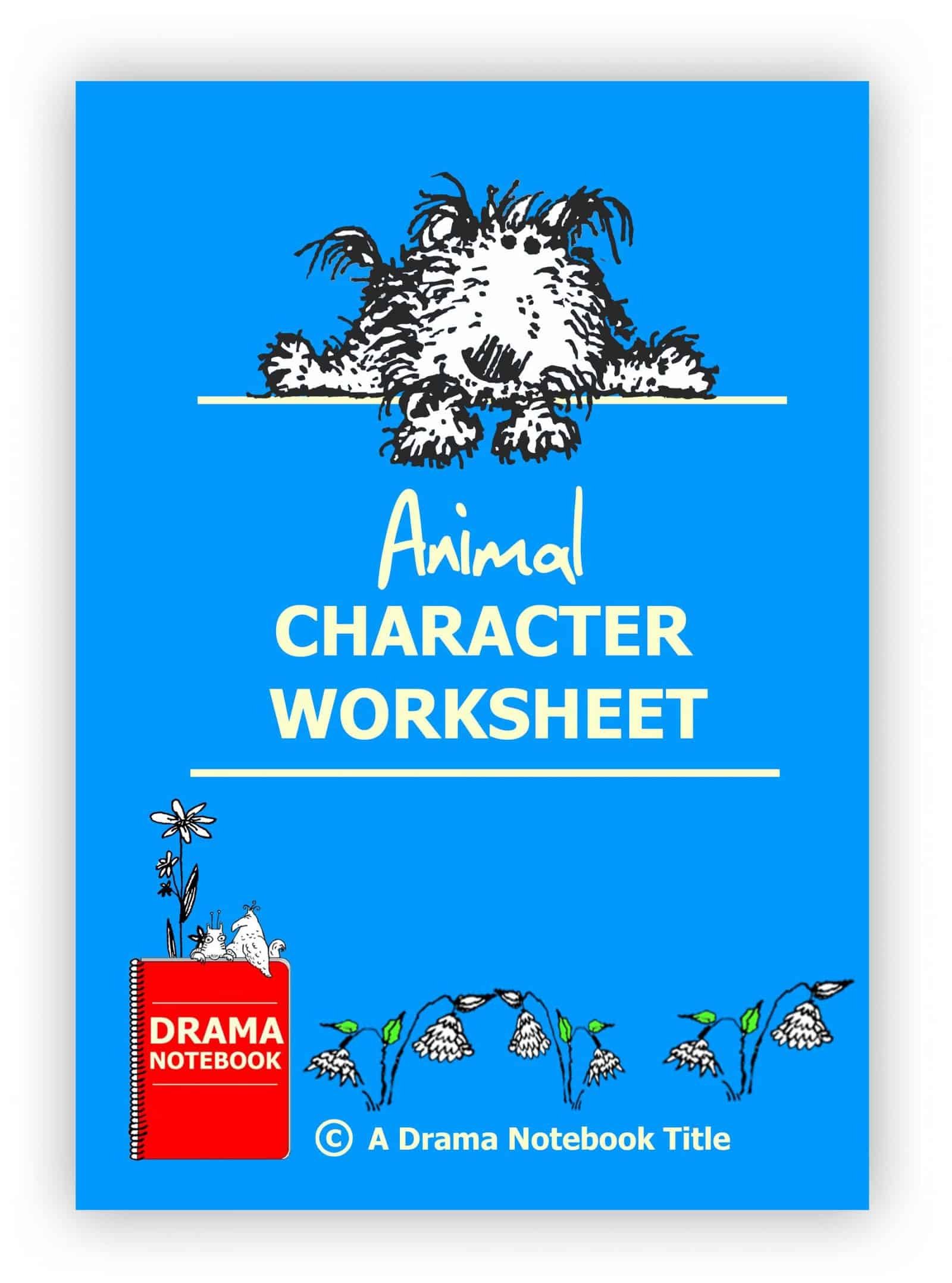 Animal Character Worksheet for Drama Class