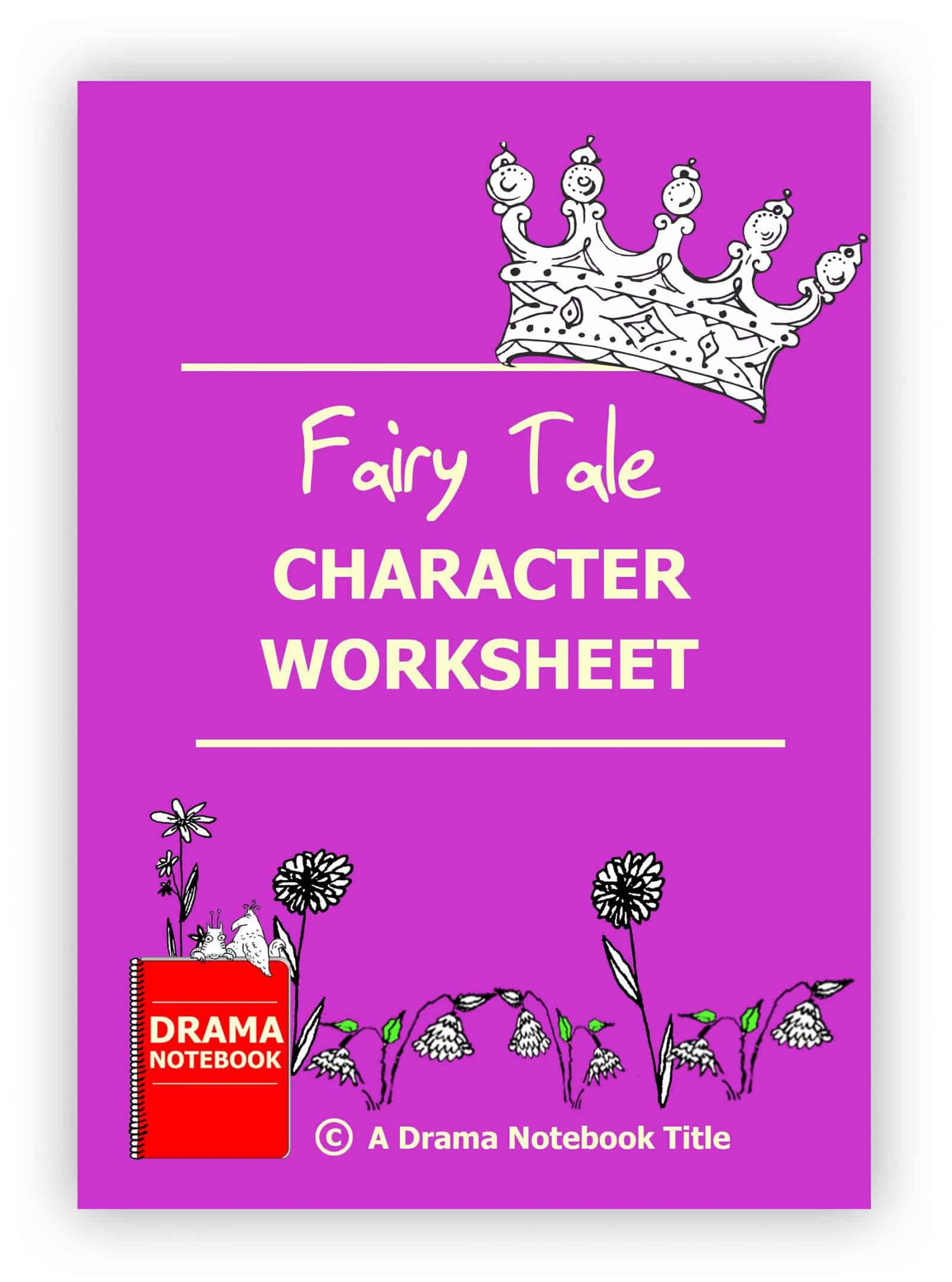 Fairy Tale Character Worksheet for Drama Class