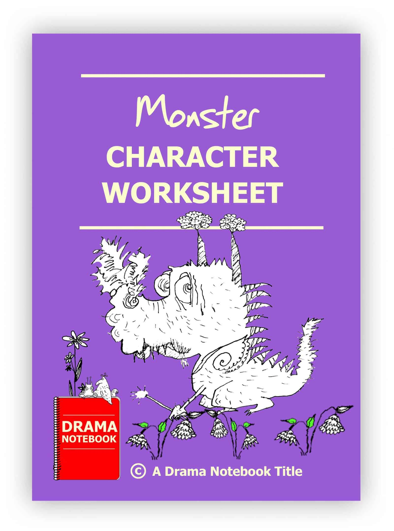 Monster Character Worksheet for Drama Class