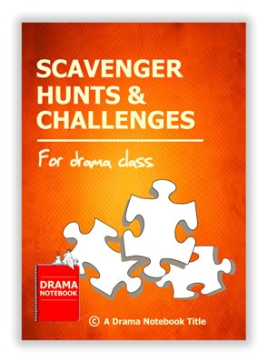 Book Cover for Drama Games and Scavenger Hunts that can be taught online