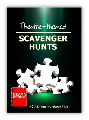 Four printable theatre-themed scavenger hunts for online drama class!